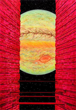 "COSMOS ""Space and Planet"" Illustration, Images and Pictures - 「Jupiter seen from base」"