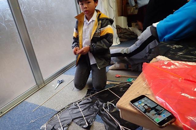 TIDEPOOL「かたち」 手作り凧を作ろう!続き