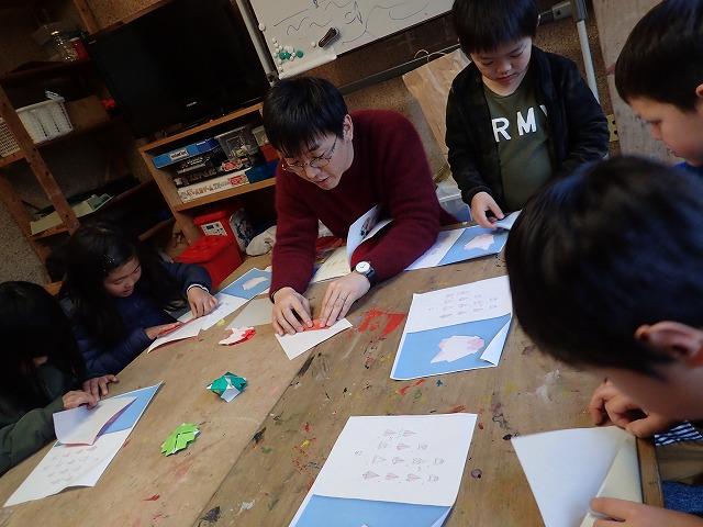 TIDEPOOL「かたち」 干支の折り紙を作ろう!