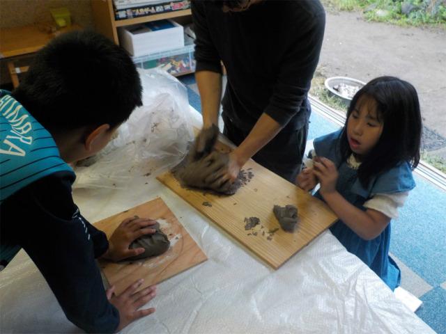 TIDEPOOL「かたち」水粘土と石膏を使ってみる