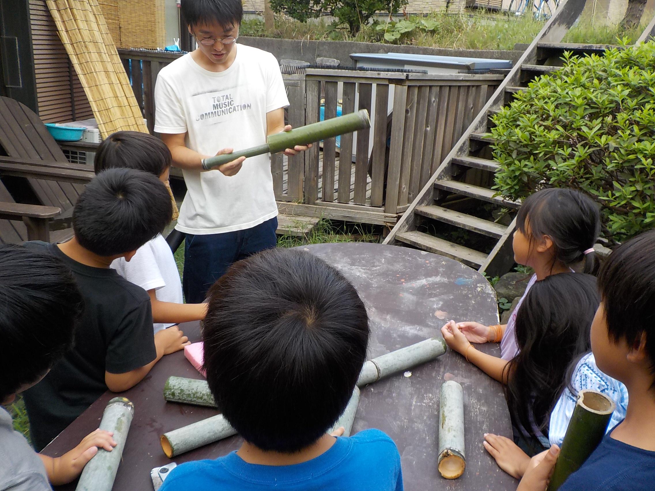 TIDEPOOL「かたち」 続:竹で水鉄砲を作る!