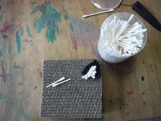 TIDEPOOL 月曜日かたち 「綿棒アートをやってみよう」