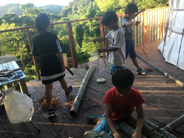 月曜日かたち 「竹筏プロジェクト 仮組み」