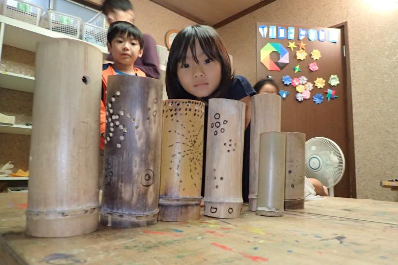 月曜日かたちクラス 「竹灯り制作」