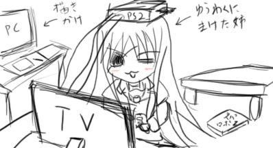 PS2で遊ぶ姉