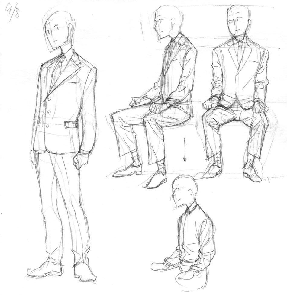 how to draw a man standing up