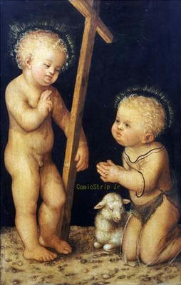 Lucas Cranach the Elder Infant Christ and Saint John the Baptist Christie's