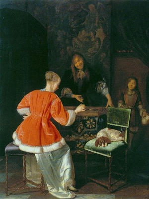 The Backgammon Players, ca. 1667/69
