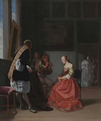 A Musical Company Jacob Ochtervelt (Dutch, 1634-1682)