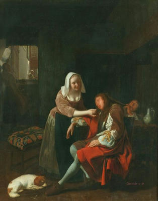 The Sleeping Cavalier  Ochtervelt, Jacob Manchester City Galleries