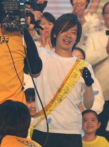 DAIGO、涙の100キロ完走!24時間テレビ、ゴール直後瞬間最高視聴率34・6%!