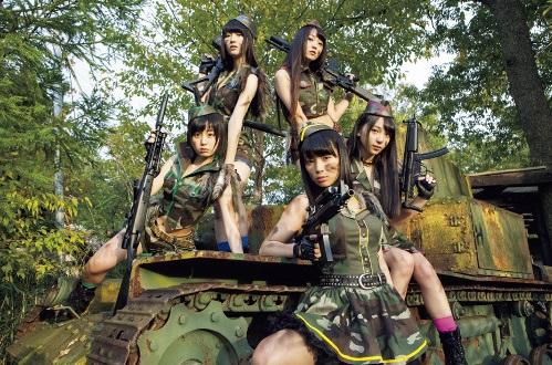 【エーチームグループ・エープラス】「転校少女歌撃団」歌って、踊って、戦える!5人組ミリタリーアイドル