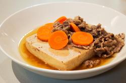 高野豆腐と牛肉の煮物