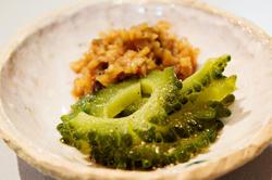 ゴーヤピクルスと醤油生姜