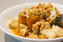 かぼちゃと鶏ひき肉の煮物