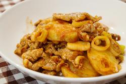 ポテトと豚肉のうまソース炒め