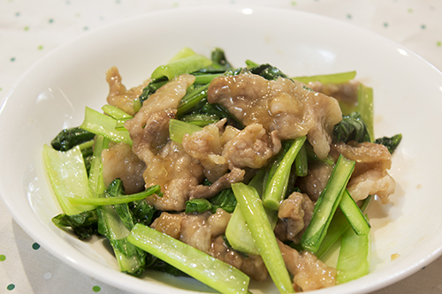 小松菜豚肉炒め