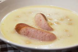ひよこ豆とじゃがいものクリームスープ