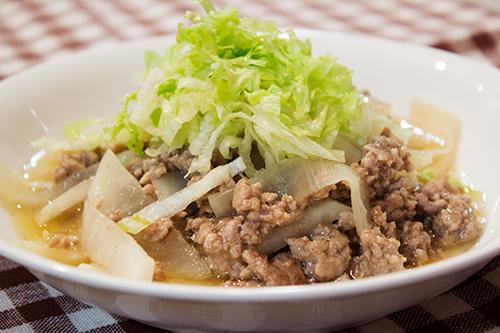 大根とひき肉の炒め煮