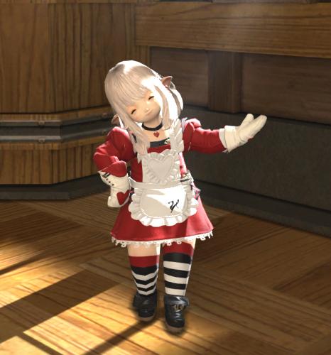 パシャパシャ撮りまくってたら良い雰囲気で撮れたので嬉しいヽ(\u003d´▽`\u003d)ノミラージュきたのでこの服を調理師の服にしようと思います~(`・ω・´)