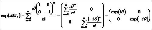 パウリ行列を指数関数にぶち込む3