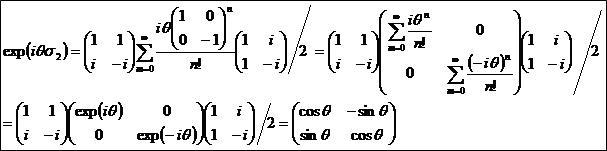 パウリ行列を指数関数にぶち込む2