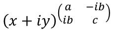 複素数のエルミート行列乗