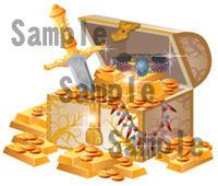 宝箱 宝物 金貨