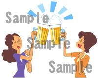 ビール 乾杯 女性