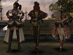 和服(?)の3人娘