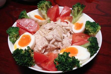 晩ご飯 棒棒鶏(バンバンジー)