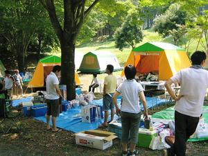 キャンプ到着時の様子