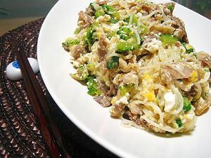 ゴーヤと素麺のチャンプルー
