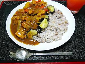 十六穀米カレー