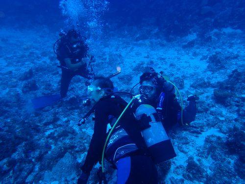 真冬沖縄那覇貸切おすすめ離島ダイビング無人島に行ける変わったツアー久米島平安座島