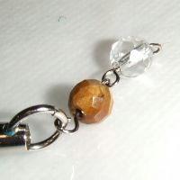 虎目石と水晶