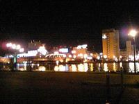 夜の釧路川