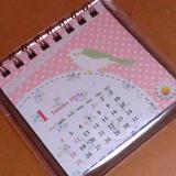 毎月違うコトリのカレンダー!小さいけど許す!