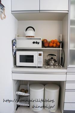 キッチン背面カウンターの使い方