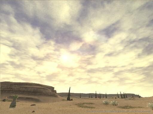 晴天の砂漠