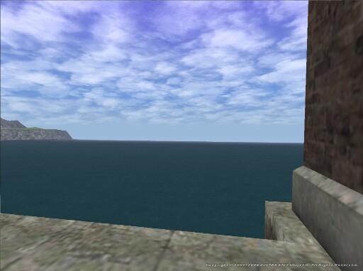 チョコボ厩舎前にて海を臨む