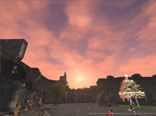 星芒祭の街で夕日を望む