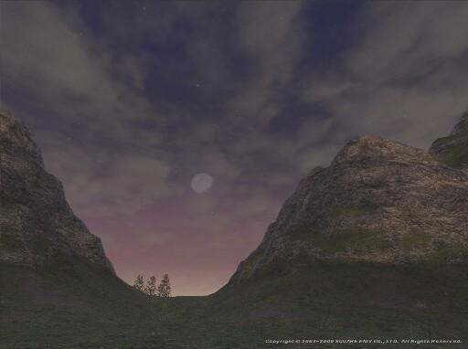 上弦の月と見ゆる