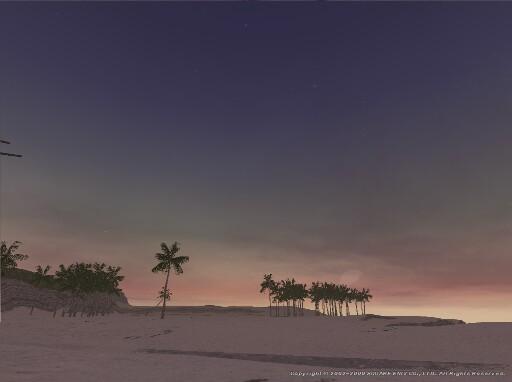 砂丘に迫る宵闇