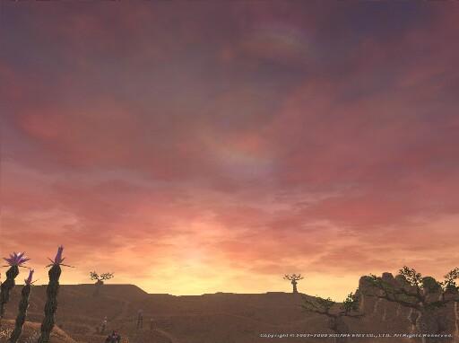 大峡谷の落日