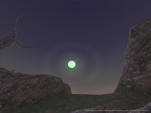 緑の月の冴え冴えと