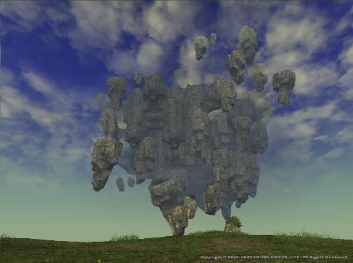 リヴェーヌ岩塊群を見上ぐる
