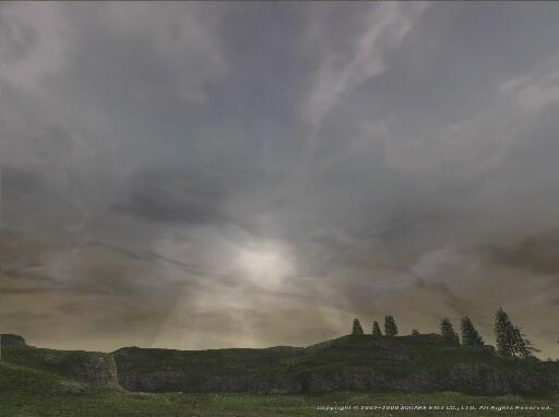 ミザレオの空雲間から