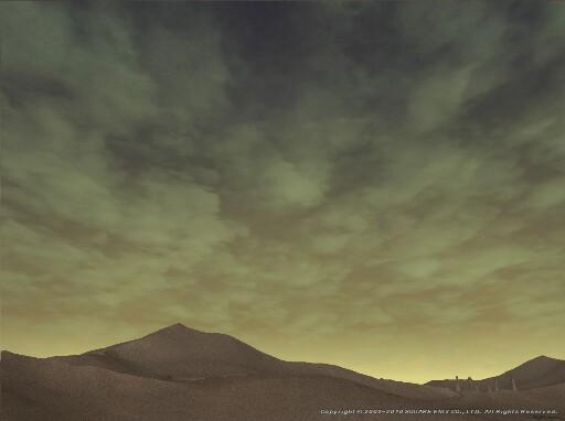 砂漠の朝ぼらけ