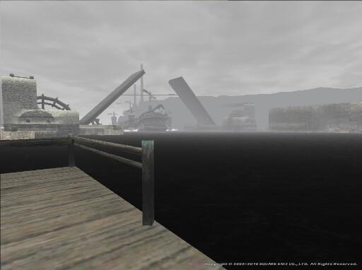 朝靄の中の着艇